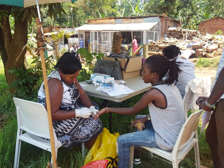 HIV TESTING AT COHREDIC from TASO